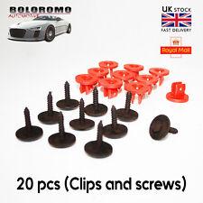 X 20 clips de Cubierta del Motor Bajo Bandeja Inferior Tornillos escudo para Ford Focus Mondeo