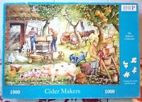 House Of Puzzles Cider Makers 1000 piece Jigsaw Puzzle Complete HOP Pigs Dalmore