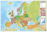 """POLITICAL MAP OF EUROPE (EUROPA) - POSTER (SPANISH LANGUAGE MAP) (36 x 24"""")"""