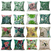 Floral Tropical Plant Leaf Cushion Covers Throw Pillow Case Home Sofa Decor 18""