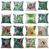 "Floral Tropical Plant Leaf Cushion Covers Throw Pillow Case Home Sofa Decor 18"""