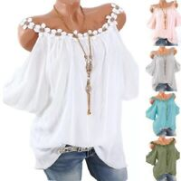 Women Summer Casual Crew Neck T Shirt Short Sleeve Solid Tops Loose Blouse Tunic