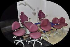 Lot Of 2 Sds Pink Vinyl Dental Exam Chairs 5 Doctor Stools 2010 120v