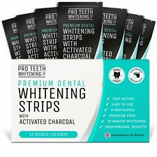 Teeth Whitening Strips with Activated Charcoal 28 Peroxide-Free Teeth Whitening