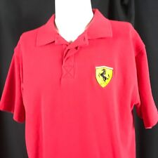 Ferrari Mens Polo Shirt Red US XL L Official Licensed Product Authentic Apparel