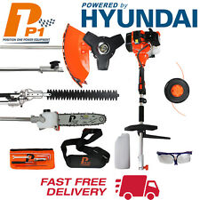 Petrol 5 in 1 Multi Tool 52cc Hedge Trimmer Strimmer Brushcutter Chainsaw P1PE