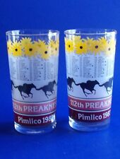 Pimlico 112 Preakness Glass Tumbler 1987 Horse Race Baltimore MD Black Eye Susan