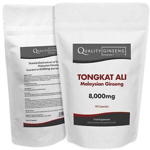 MALAYSIAN GINSENG - TONGKAT ALI - 8,000mg Capsules - Powerful Formula
