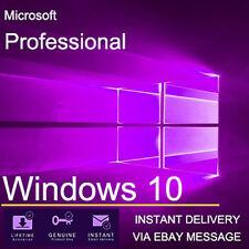 Windows 10 Pro de 32 y 64 bits Win 10 OEM genuino Licencia Original clave de activación