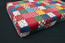 LF802t Teal Red White Yellow Blue Cotton Canvas 3D Seat Box Shape Cushion Cover