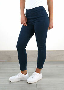 White Stuff Womens Stretch Cropped Elasticated Jade Jegging Ladies Navy Jean