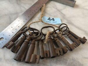 JOBLOT  Of Georgian/VICTORIAN  Keys  STRONG BOX SAFE DOOR LOCK ANTIQUE (44)