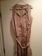 Gap tan metallic dropped waist dress Size XS