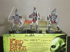 BRITAINS 40458 LORD OF THE RINGS FILM MOVIE THE ORCS METAL CHARACTER FIGURE SET