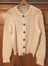 Jacque De Loux Vintage Cardigan Sweater 100% Pure Virgin Wool Large