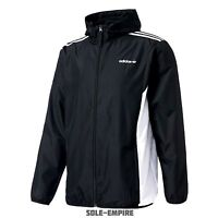 Adidas Originals CLR84 Windbreaker Jacket Black White Mens New with tags