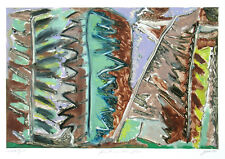 George Cramer Monoprint Forest in the Flesh Abstract American Art Tandem Press