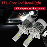 110W 20000LM H4 CREE LED Light Headlight Kit Car Hi/Lo Beam Bulb Kit 6000k UK