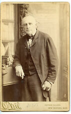 Vintage Cabinet Card Actor J.W. Thompson ONiel Photo New Bedford Mass.