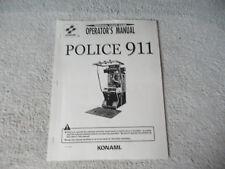 POLICE 911 KONAMI     arcade game manual