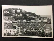 Vintage Postcard - Devon #A108 - RP Torquay - Harbour - Boats Buses Cars 1957