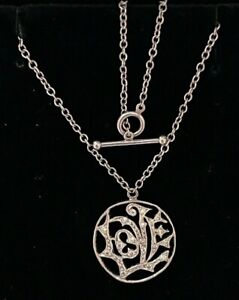 Designer ~ CATHY WATERMAN  Platinum & Diamond LOVE Charm Pendant Necklace $3700+