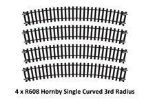 4x R608 Hornby 00/H0 escala Tren Modelo Ferrocarril Pista single CURVADO 3º