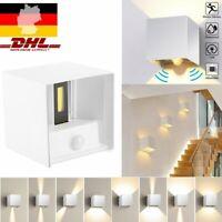 LED Wandleuchte außen IP44 Wandspot Bad Fassaden-Lampe Strahler Cube Leuchte