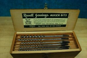 Vintage Russell Jennings Auger Drill Bits tool Set Stanley New Britain,Conn