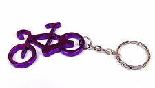 Bike Keyring - Metal Bicycle Keychain Purple Aluminium Fast UK 24hr Post