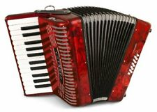 Hohner Hohnica 12 Bass Entry Piano Accordion Pearl Red with Gig Bag & Straps