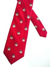 "Wembley Men's Silk Novelty Neck Tie Red Santa Claus 3 1/2"" x 56"" Short"