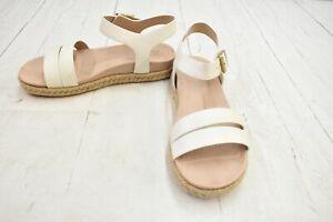 Easy Spirit Ixia Espadrille Sandal, Women's Size 7M, White NEW