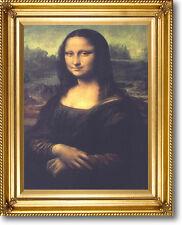 DA VINCI MONA LISA Braided Gold Frame CANVAS GICLEE ART REPRO 29 x 25