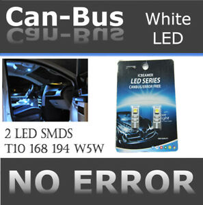 2 prs T10 Canbus 2 LED Samsung Chips White Factory Replace Map Dome Lights K394