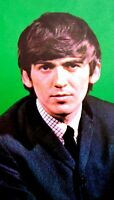 Beatles 1964 Vintage Postcard George Harrison Fab Four Original EX COA