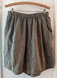 Women's Flax 100% Linen Shorts Size Large EUC
