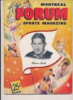 12/23/1948 Montreal Canadiens Boston Bruins Program w RARE TICKET STUB EXC COND