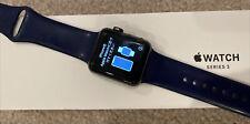 Apple Watch Series 3 38mm Original Box Space Gray Aluminium Case Used Blue Ban
