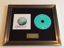 PERSONALLY SIGNED/AUTOGRAPHED JASON MRAZ - YES! FRAMED CD PRESENTATION. RARE