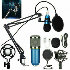 More details for usb condenser microphone live streaming studio recording gaming kit w/ mic mount