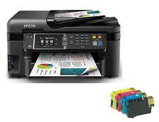 Epson Work Force WF-3620DWF Printer Black + FREE BUNDLE 4 X INK CARTRIGE