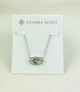 Kendra Scott Elisa Dichroic Glass Silver Necklace