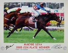 MAKYBE DIVA 2005 COX PLATE signed Print