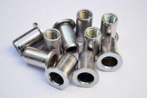 Rivnuts RIVKLE® M10 Rivet Nuts Blind Zinc Plated Steel Threaded Insert