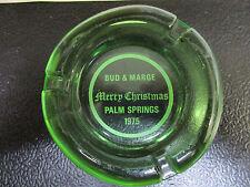 Bud & Marge Merry Christmas Palm Springs 1975 ashtray RARE