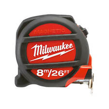 Milwaukee 48-22-5225 8M/26FT Magnetic Tape Measure with Finger Stop