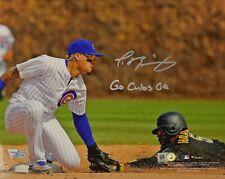 """Javier Baez Autographed Chicago Cubs 8x10 """"Go Cubs Go"""" Inscription (Fanatics)"""