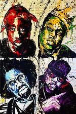 """Alec Monopoly Oil Painting on Canvas Urban art decor Rapper Portrait 28x40"""""""