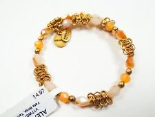 ALEX and ANI Russian Gold Tone Fate Terra Wrap Bracelet with Charms